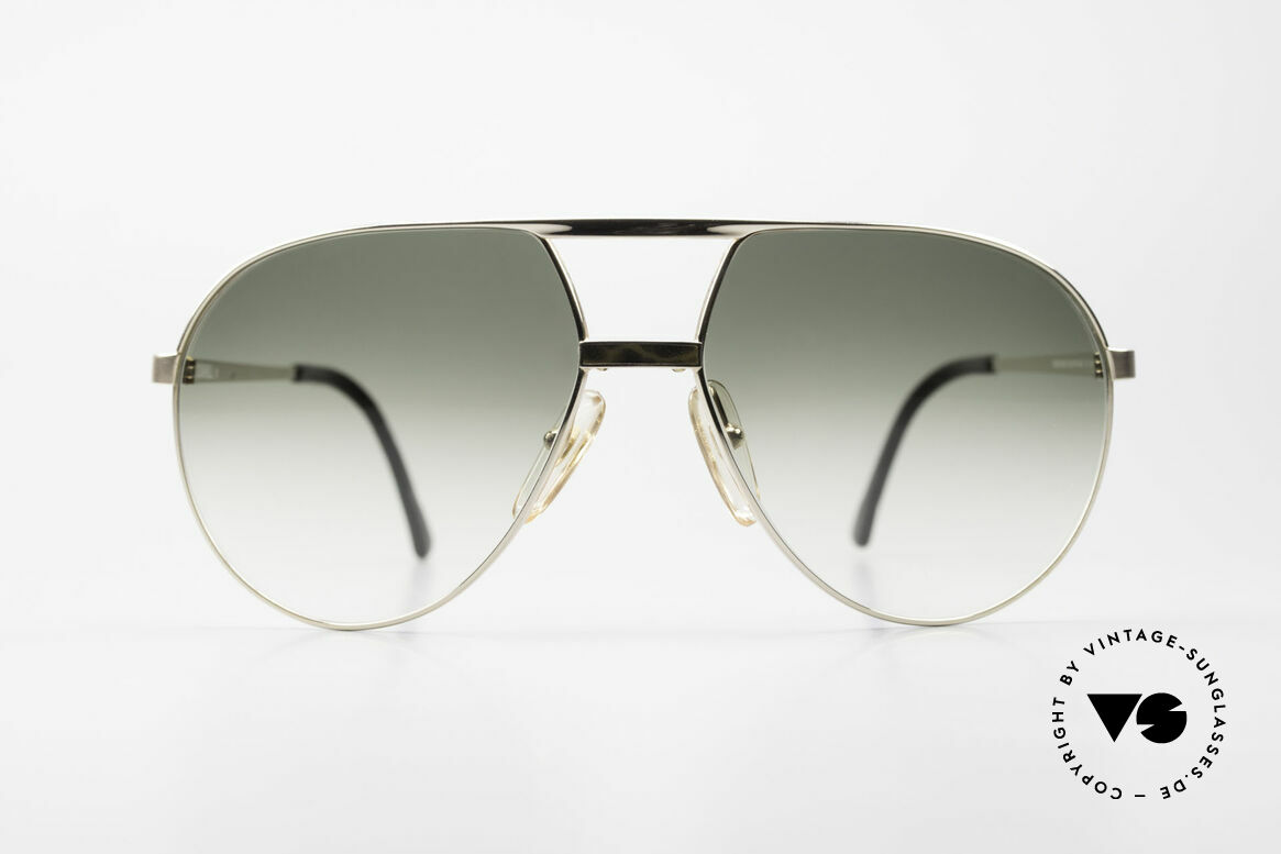 Dunhill 6042 80's Luxury Aviator Sunglasses, gold-plated with gray 'China lac' & gradient lenses, Made for Men