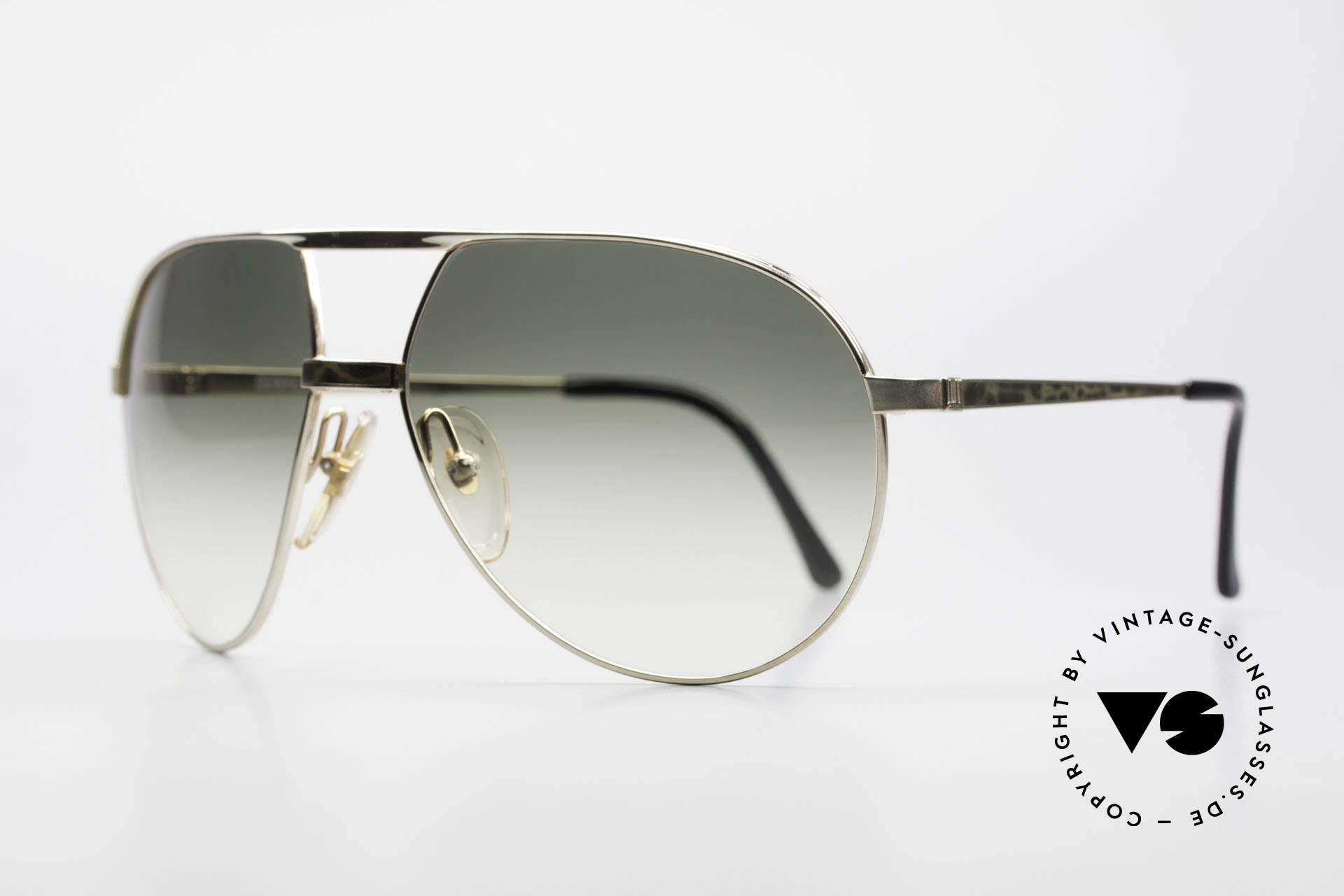 Dunhill 6042 80's Luxury Aviator Sunglasses, unbelievable quality & workmanship (monolithic), Made for Men