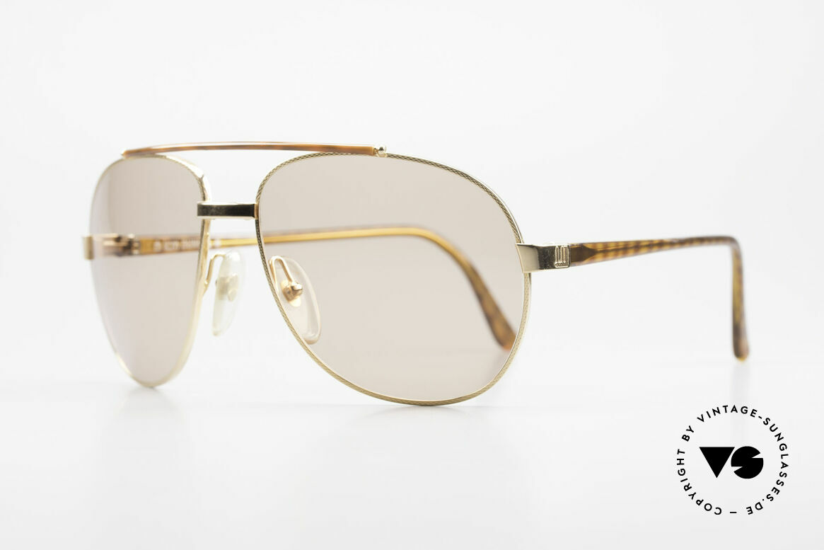 Dunhill 6070 90's Luxury Shades For Men, flexible (Comfort-Fit) gold-plated metal frame, Made for Men