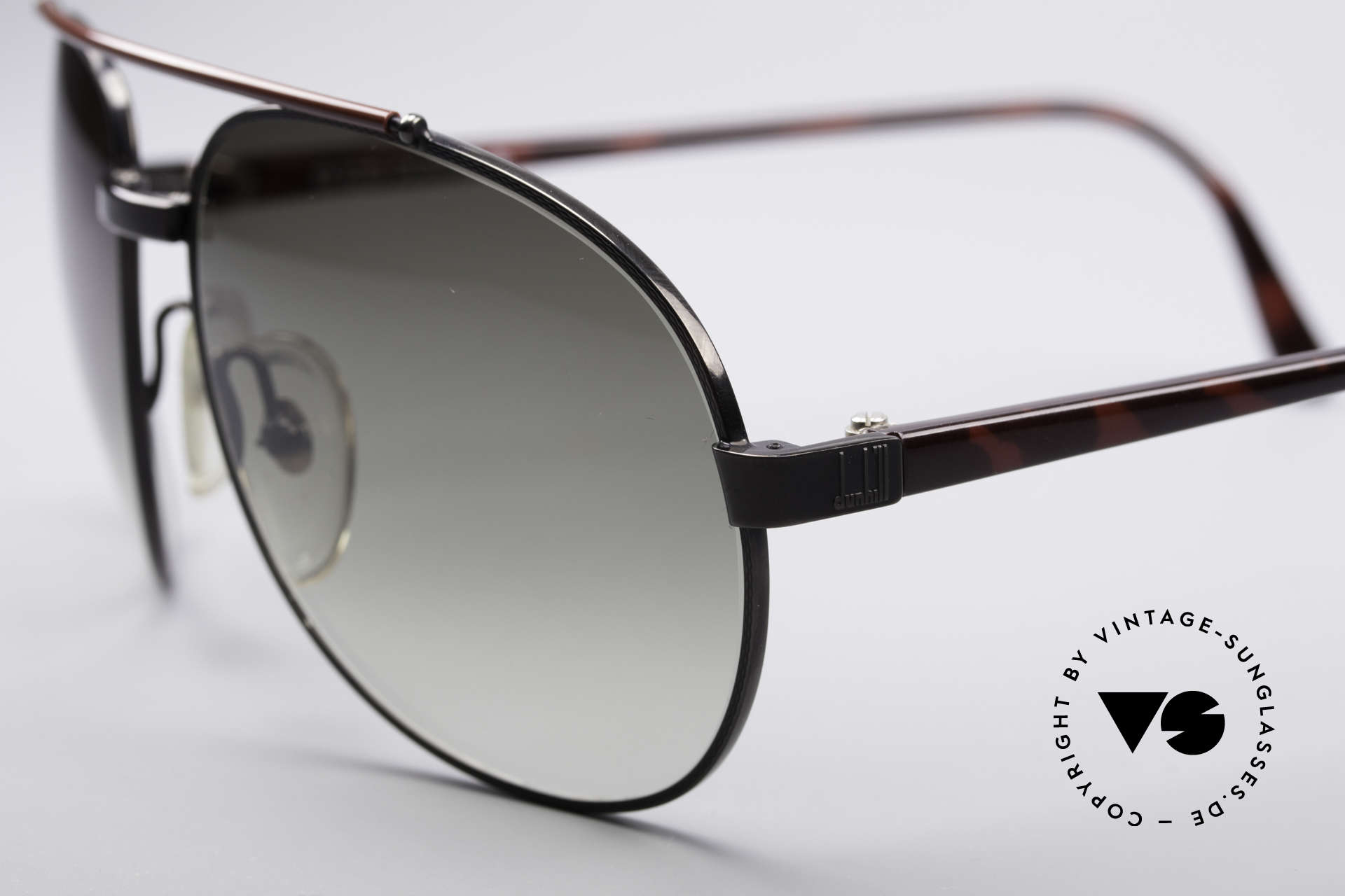 Dunhill 6070 90's Luxury Shades, tortoise-shell-bordeaux appliqué & gray lenses, Made for Men