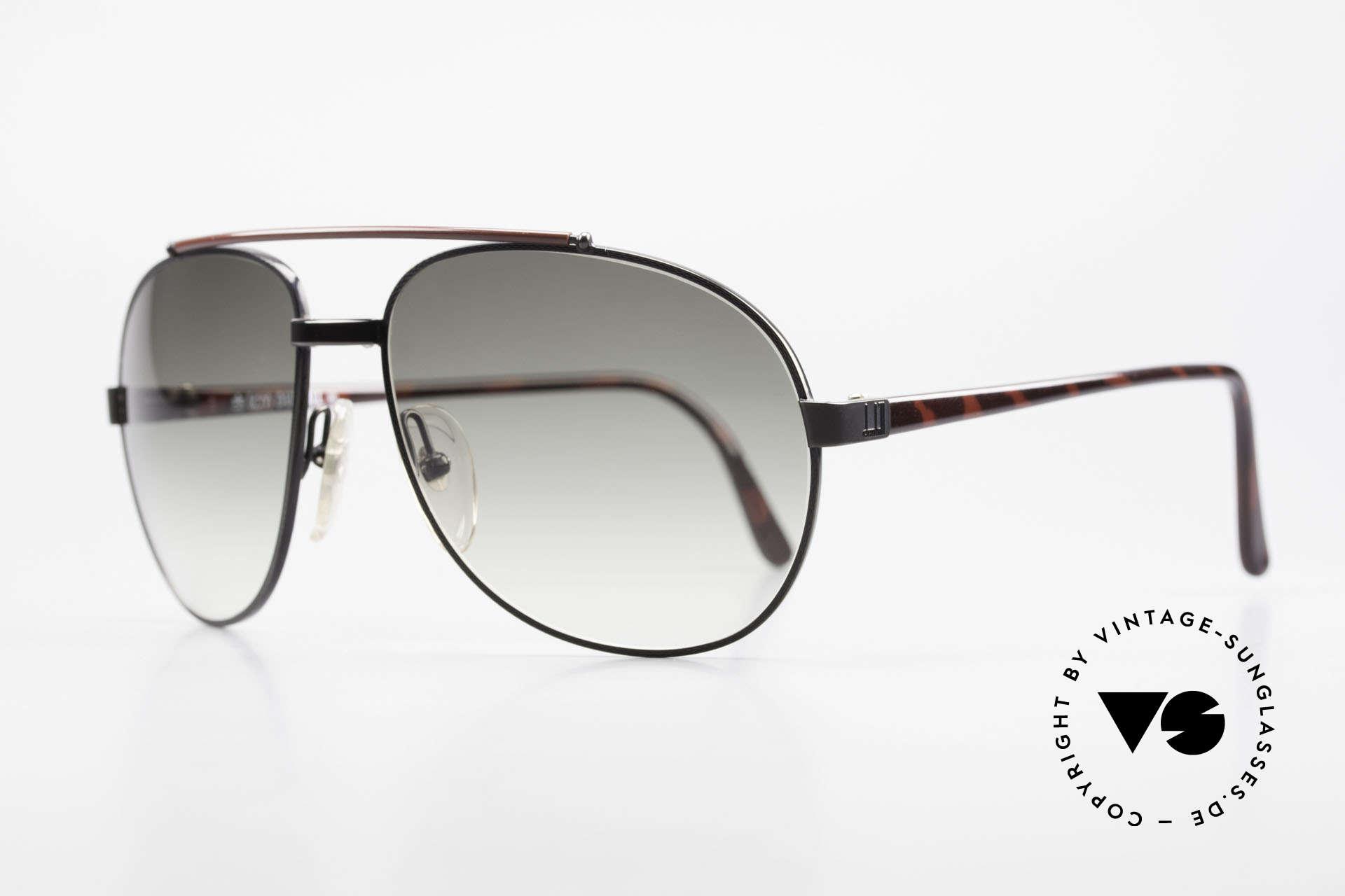 Dunhill 6070 Men's 90's Luxury Sunglasses, flexible (COMFORT-FIT) black-chromed frame, Made for Men