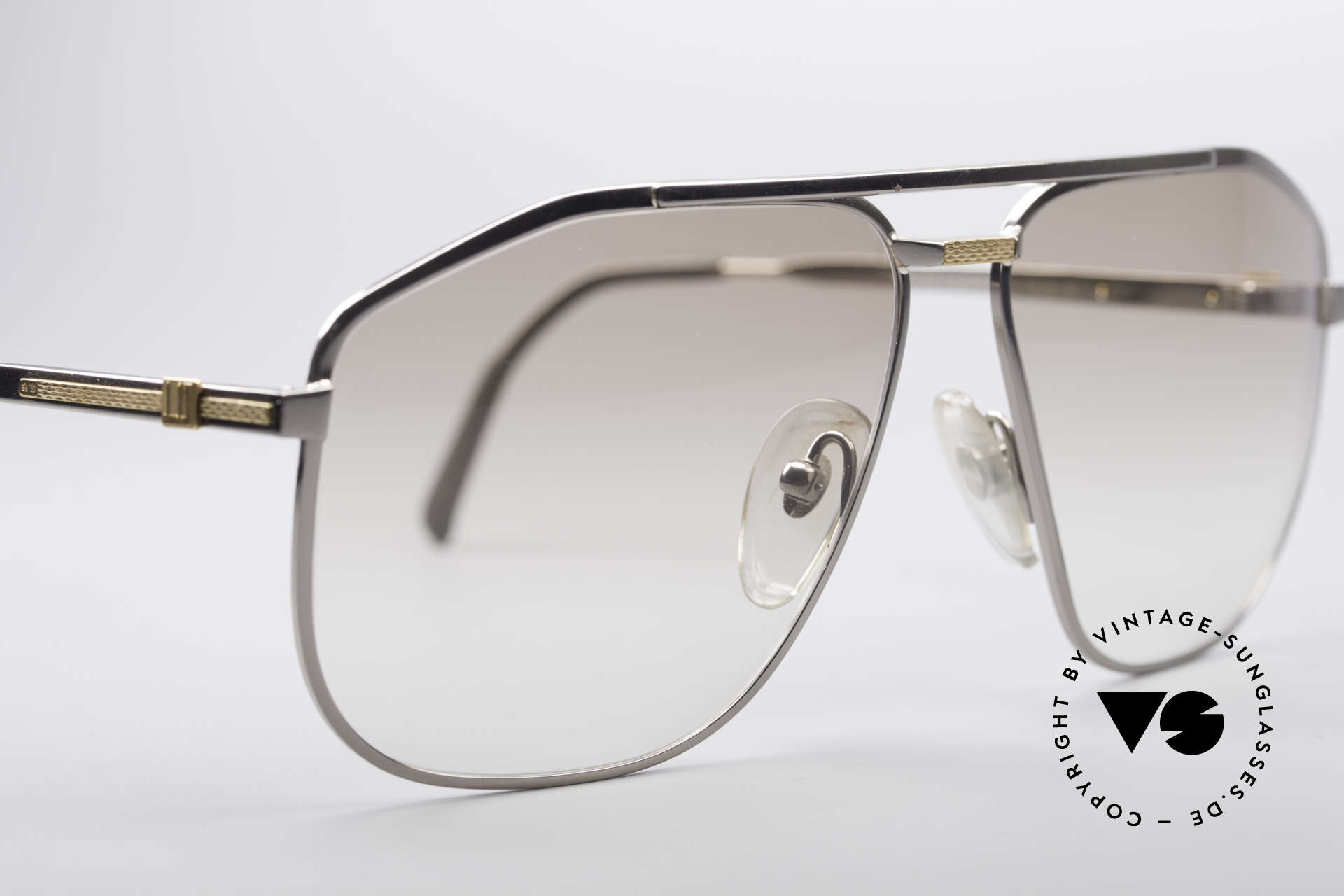 "Dunhill 6096 Titanium Frame 18ct Solid Gold, a ""must-have"" with very light tinted sun lenses; 100% UV, Made for Men"