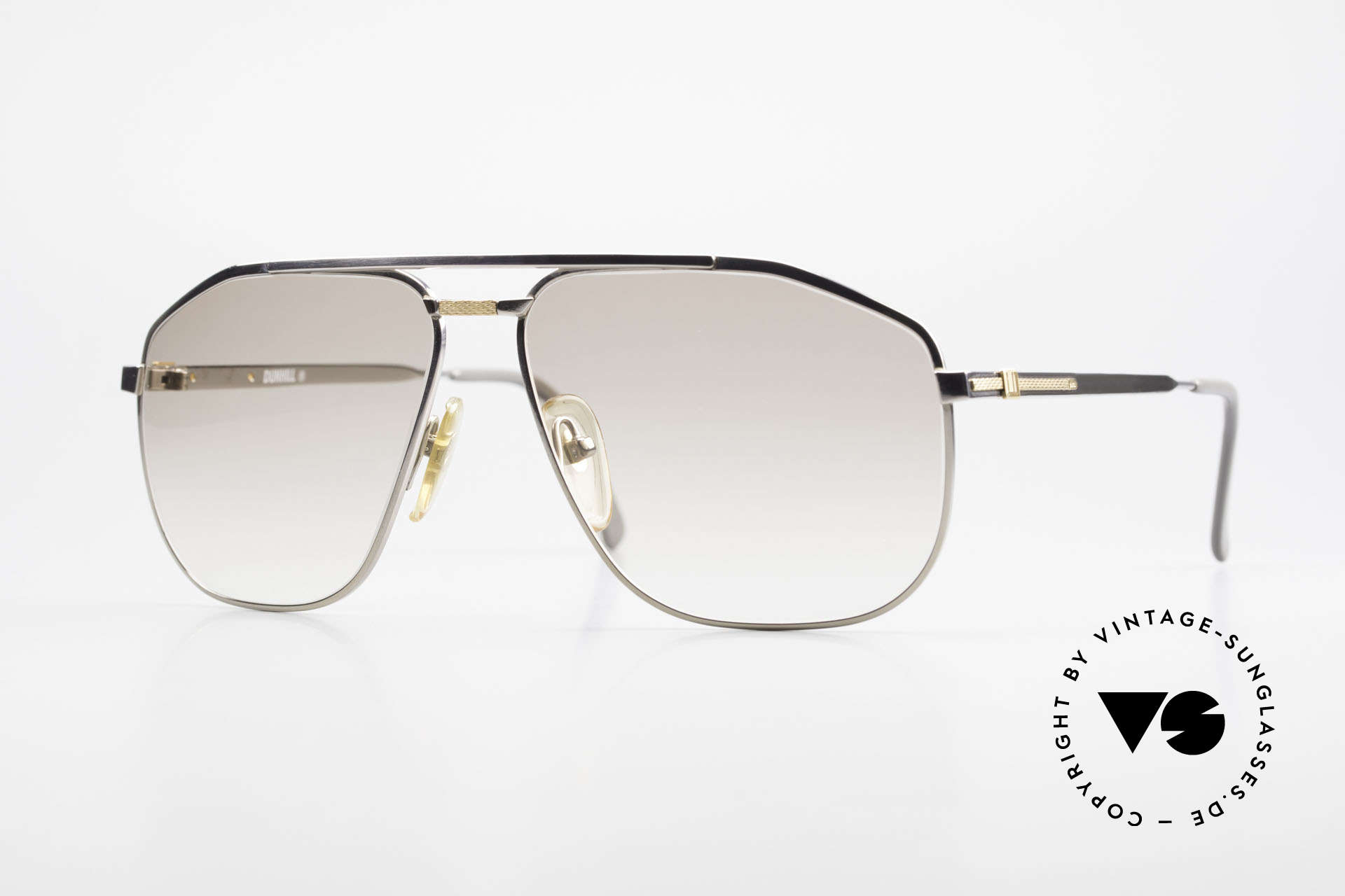 Dunhill 6096 Titanium Frame 18ct Solid Gold, pure elegance in design & coloring - you must feel this!, Made for Men