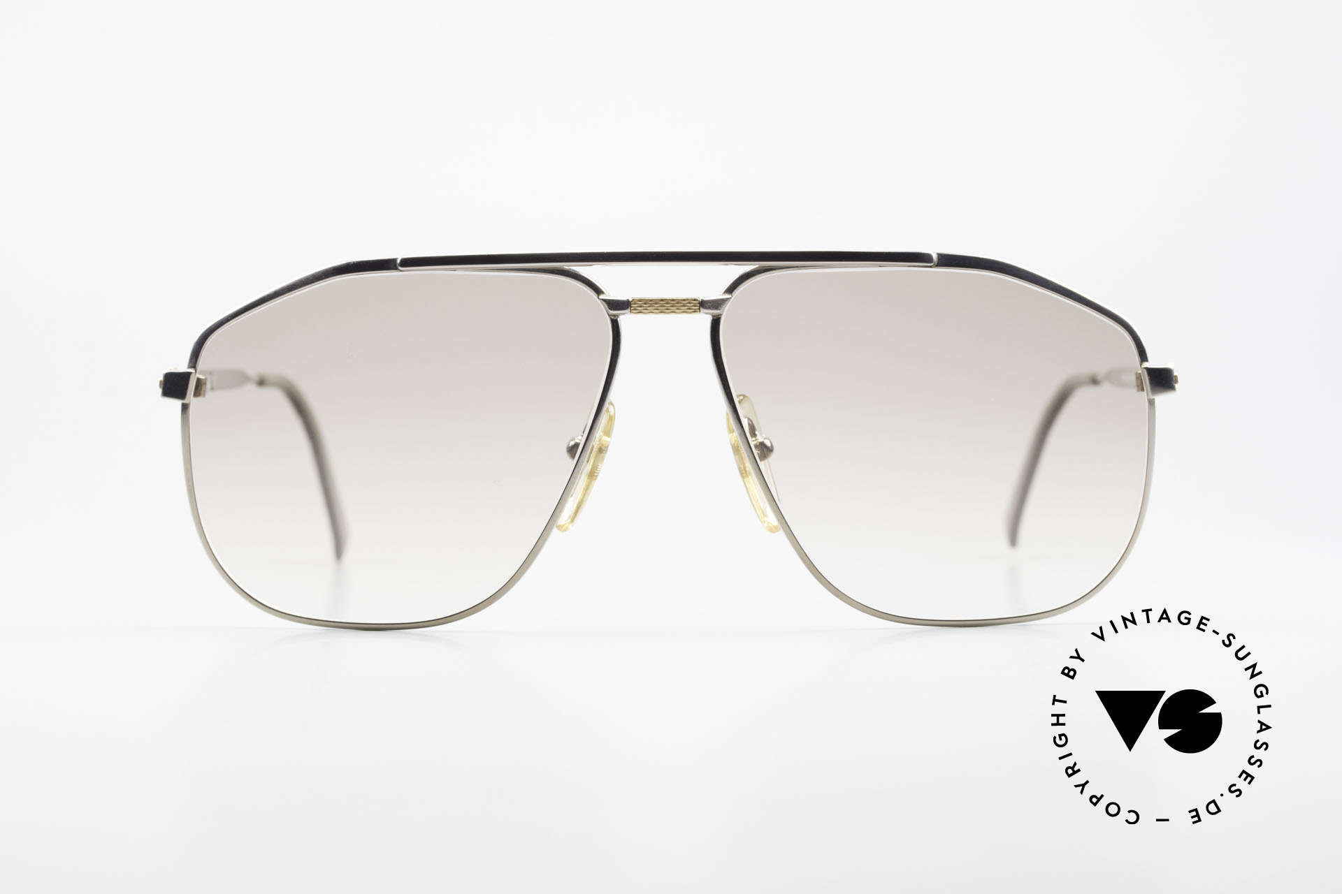 Dunhill 6096 Titanium Frame 18ct Solid Gold, sophisticated 90's Titanium designer glasses by Dunhill, Made for Men
