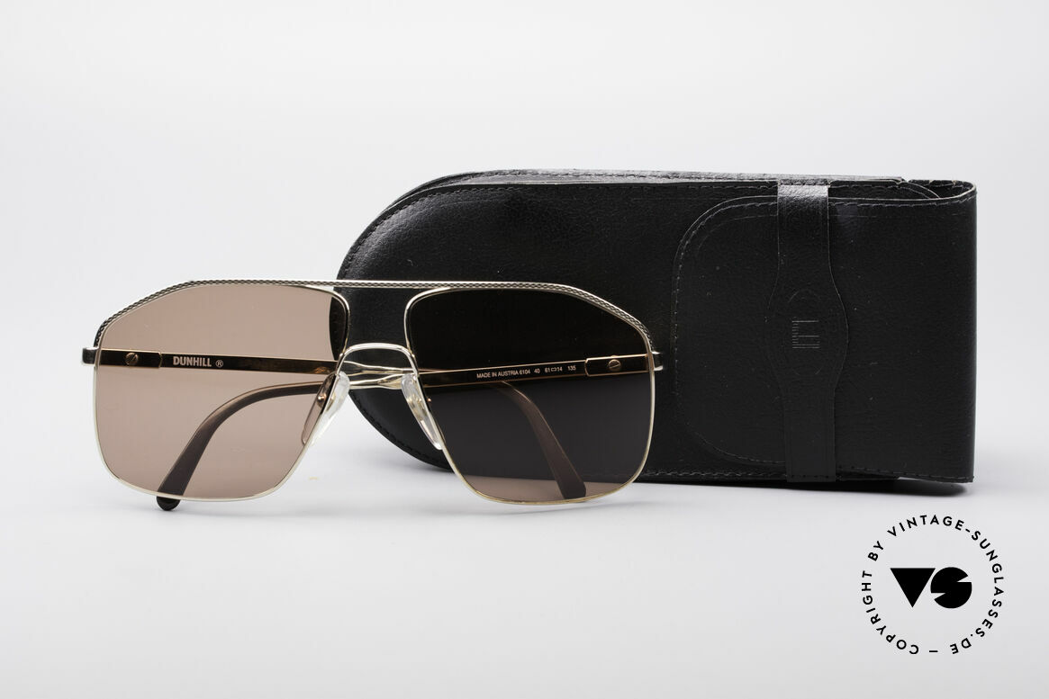 Dunhill 6104 Gold Plated Shades 90's Men, Size: large, Made for Men