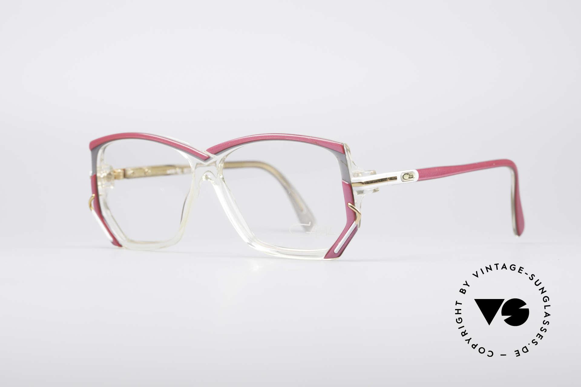 Cazal 197 80's Designer Glasses, distinctive 1980's designer piece in SMALL size 55-12, Made for Women