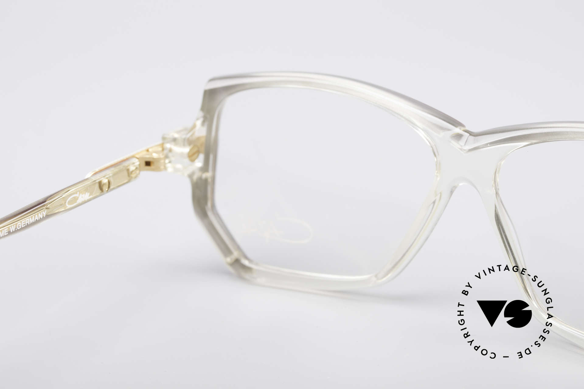 Cazal 197 80's Designer Glasses, demo lenses can be replaced with optical / sun lenses, Made for Women