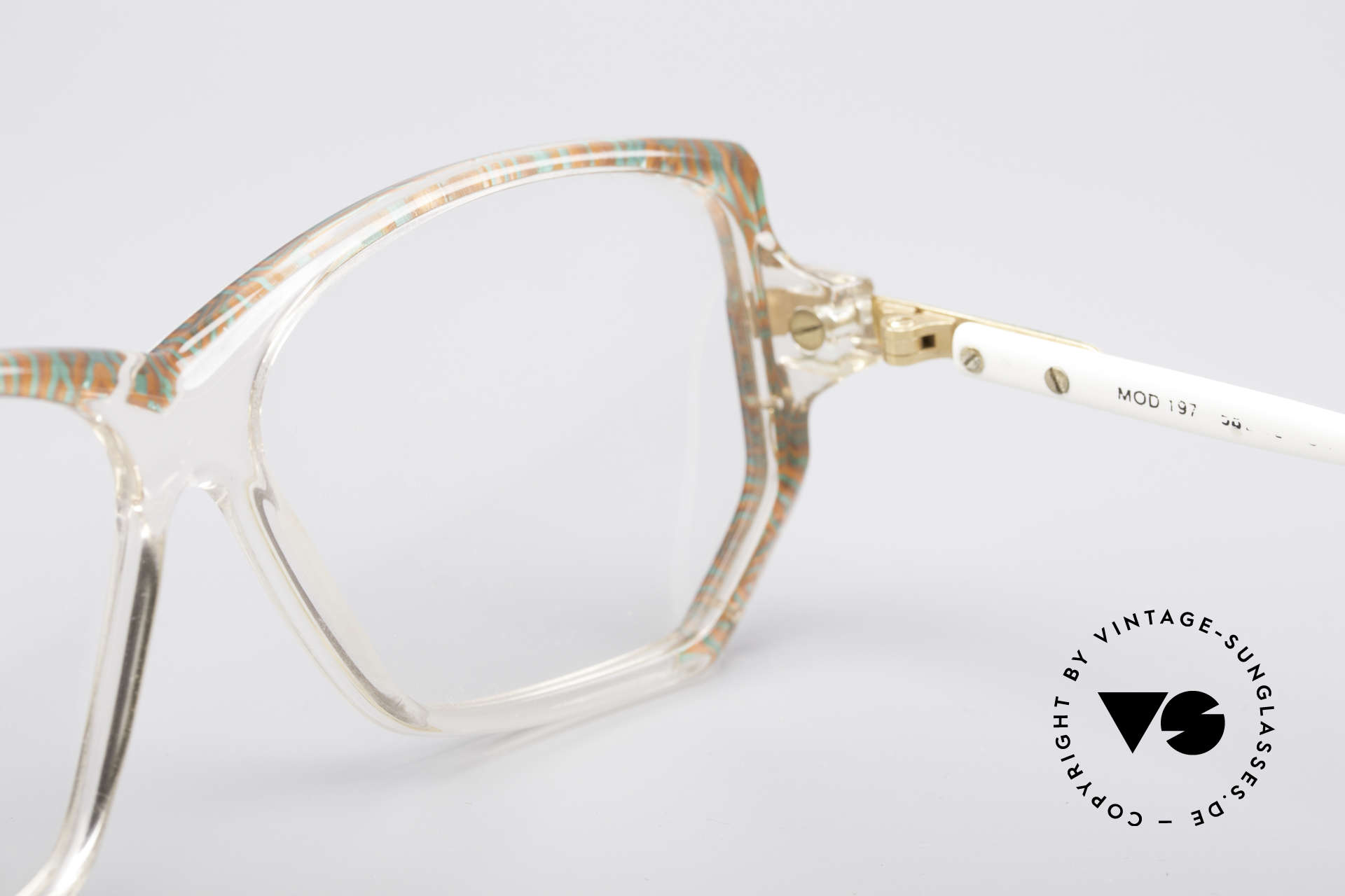 Cazal 197 80's Designer Glasses, imprints are abraded due to cleaning; thus reduced, Made for Women