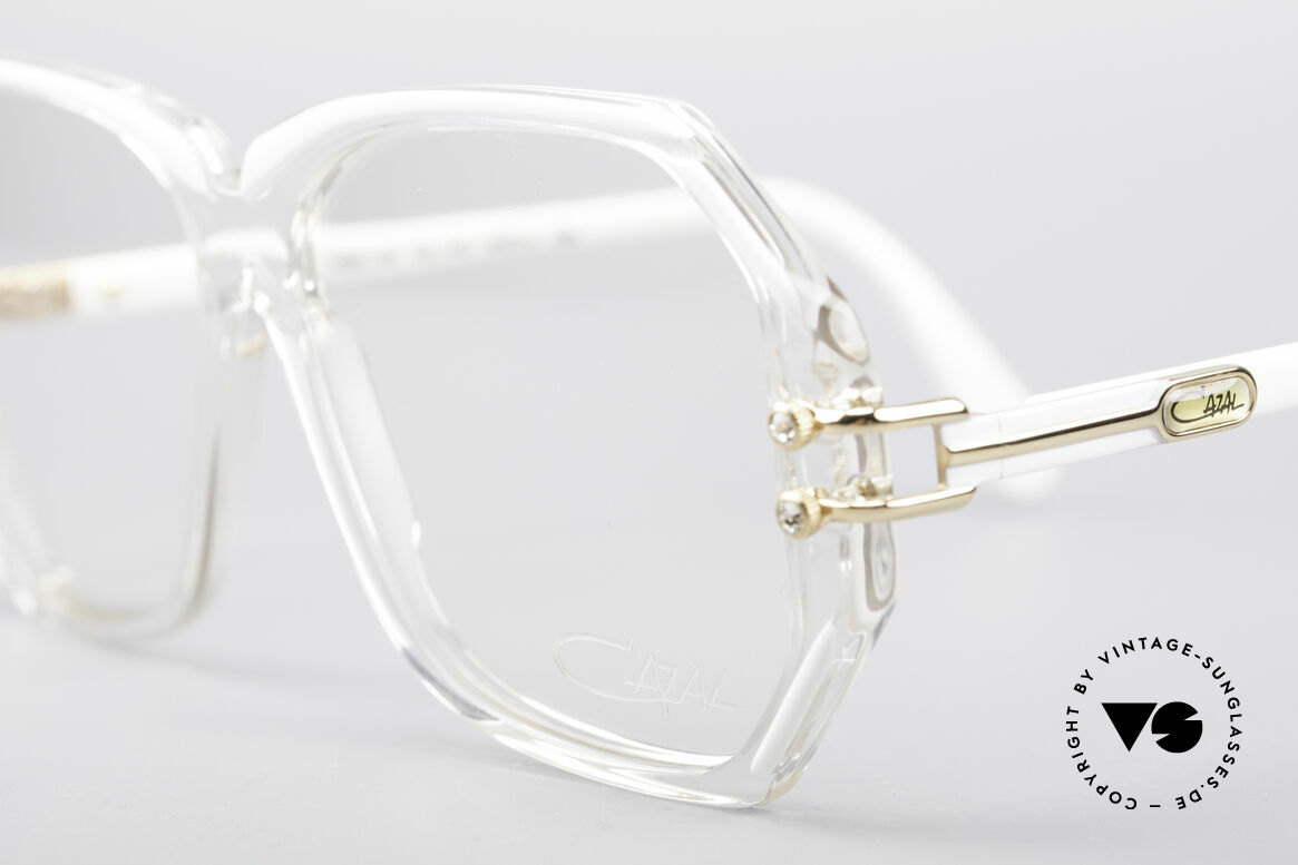 Cazal 169 Small Designer Frame, with some tiny rhinestones as ornamental screws, Made for Women