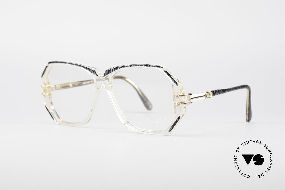 Cazal 169 Vintage Designer Frame, crystal clear frame with anthracite rims; MEDIUM, Made for Women