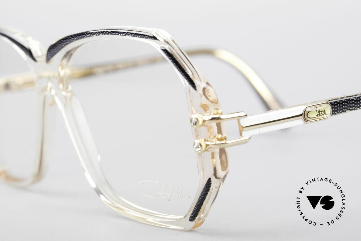Cazal 169 Vintage Designer Frame, with some tiny rhinestones as ornamental screws, Made for Women