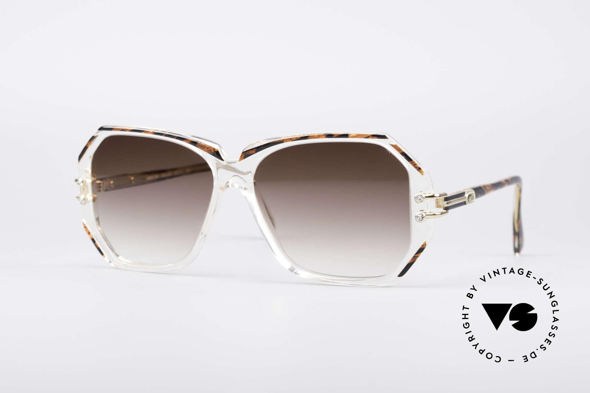 Cazal 169 Vintage Designer Shades, extravagant vintage CAZAL designer sunglasses, Made for Women