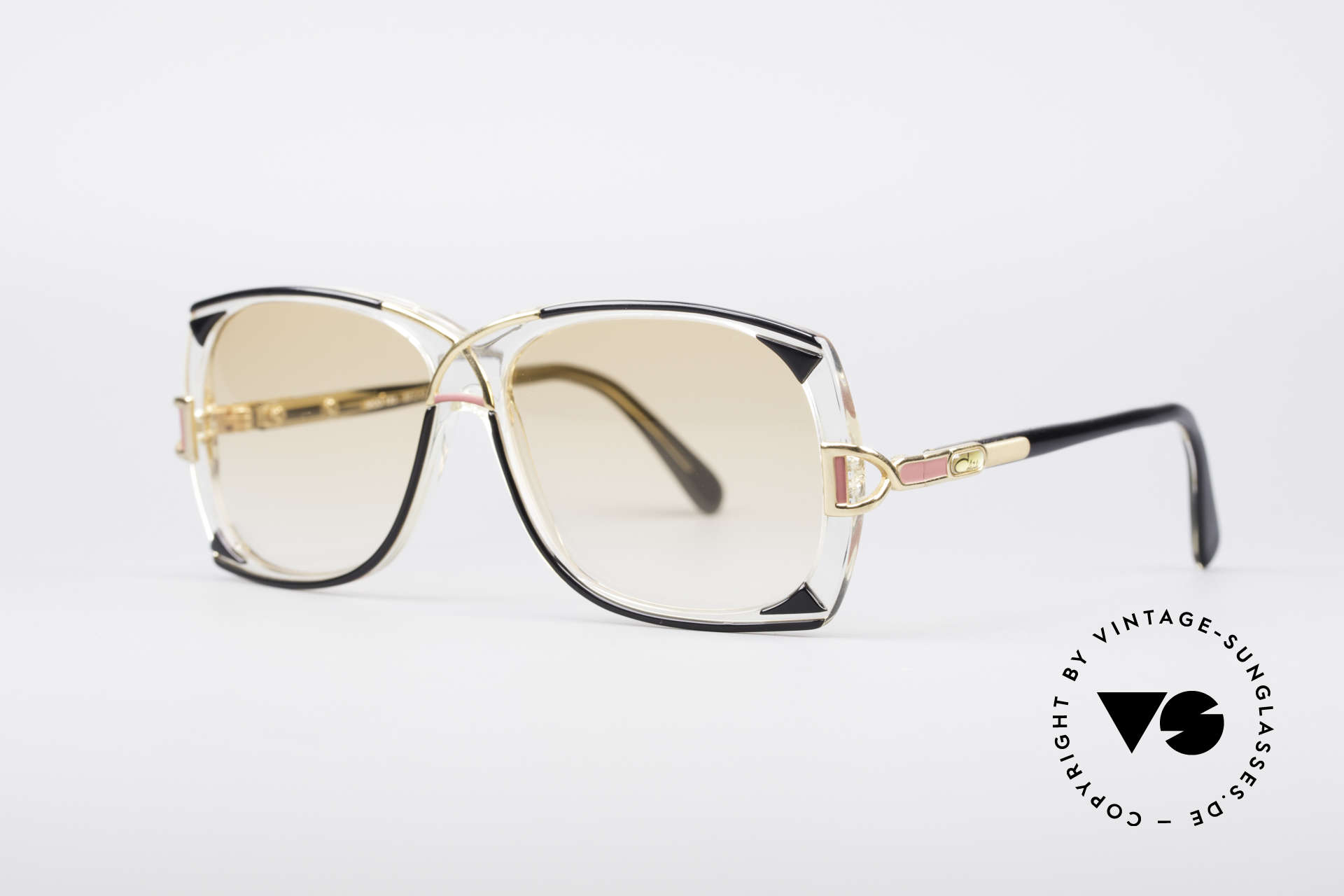 Cazal 193 Original 80's Shades, light tinted sun lenses (orange-gradient color), Made for Women