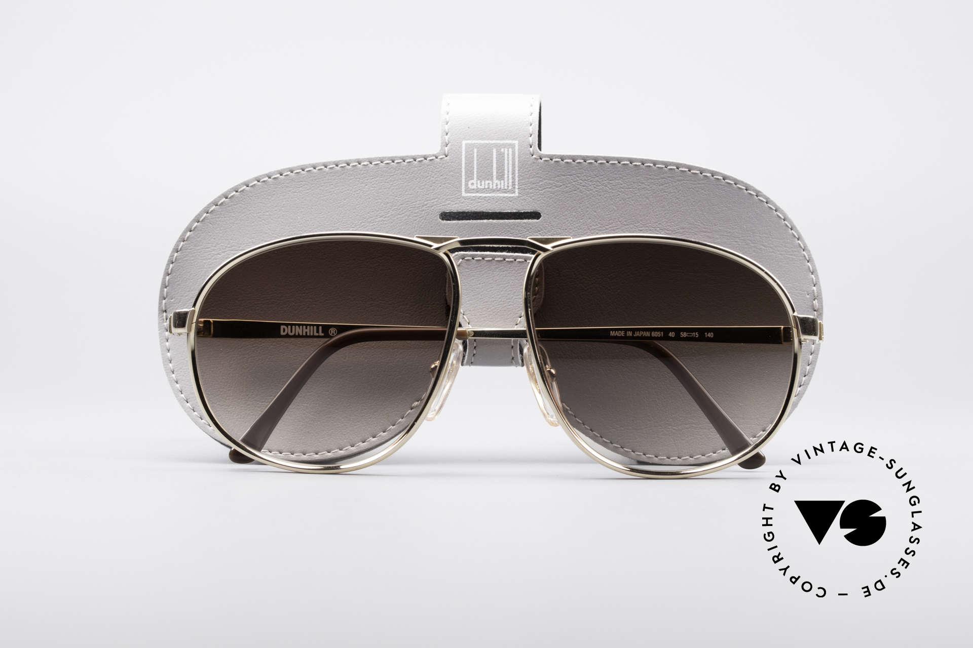 Dunhill 6051 80's Titanium Luxury Shades, unworn (like all our rare vintage Alfred Dunhill eyewear), Made for Men