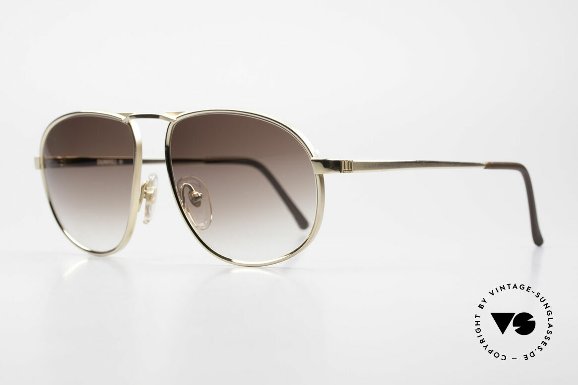 Dunhill 6051 80's Titanium Luxury Shades, hardgold-plated TITANIUM frame; hand made in Japan, Made for Men