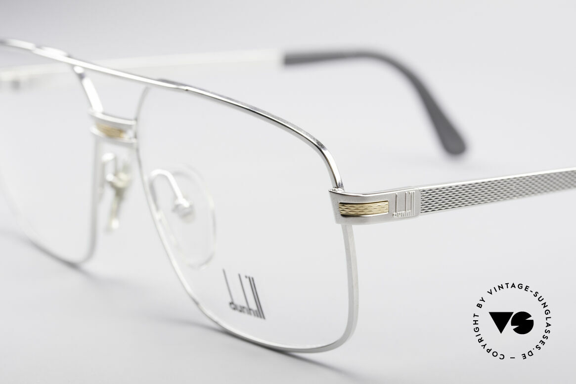 Dunhill 6134 Platinum Plated 90's Frame, extremely costly / expensive production process, Made for Men