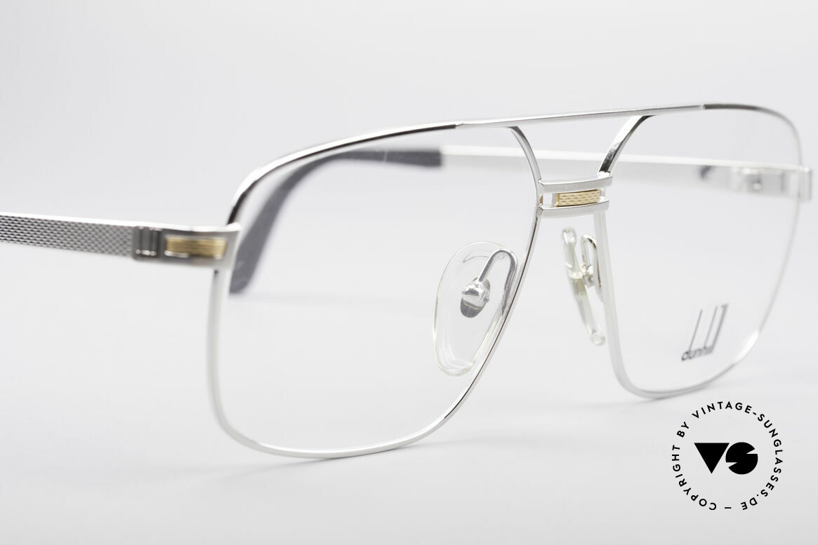 Dunhill 6134 Platinum Plated 90's Frame, unworn (like all our premium vintage eyeglasses), Made for Men