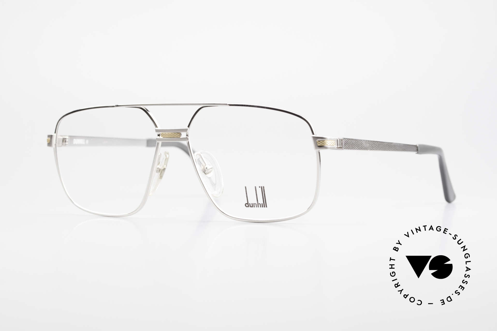 Dunhill 6134 Platinum Plated 90's Frame, platinum-plated frame with a gold-plated decor, Made for Men
