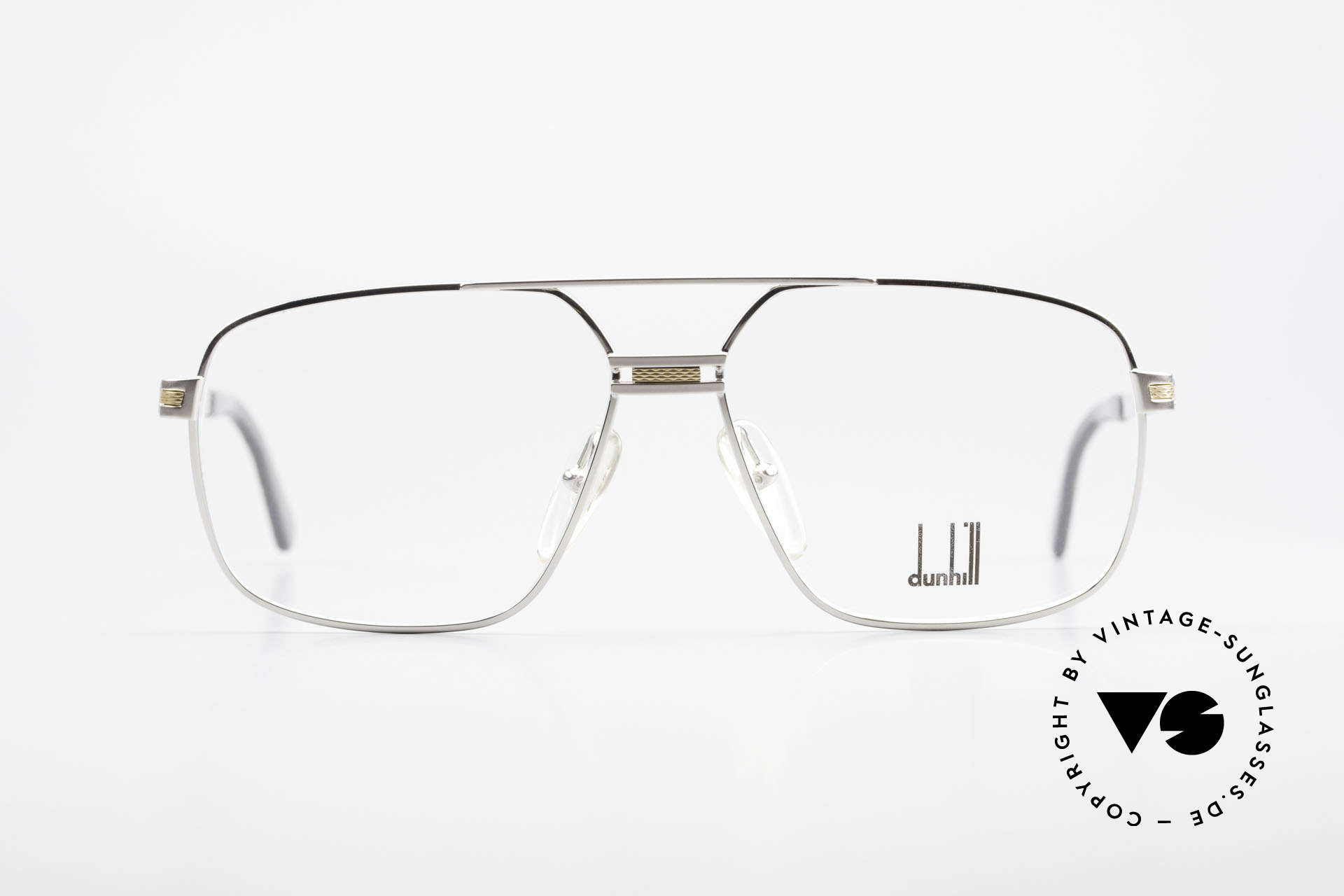Dunhill 6134 Platinum Plated 90's Frame, 1990's luxury eyeglass-frame by Alfred DUNHILL, Made for Men