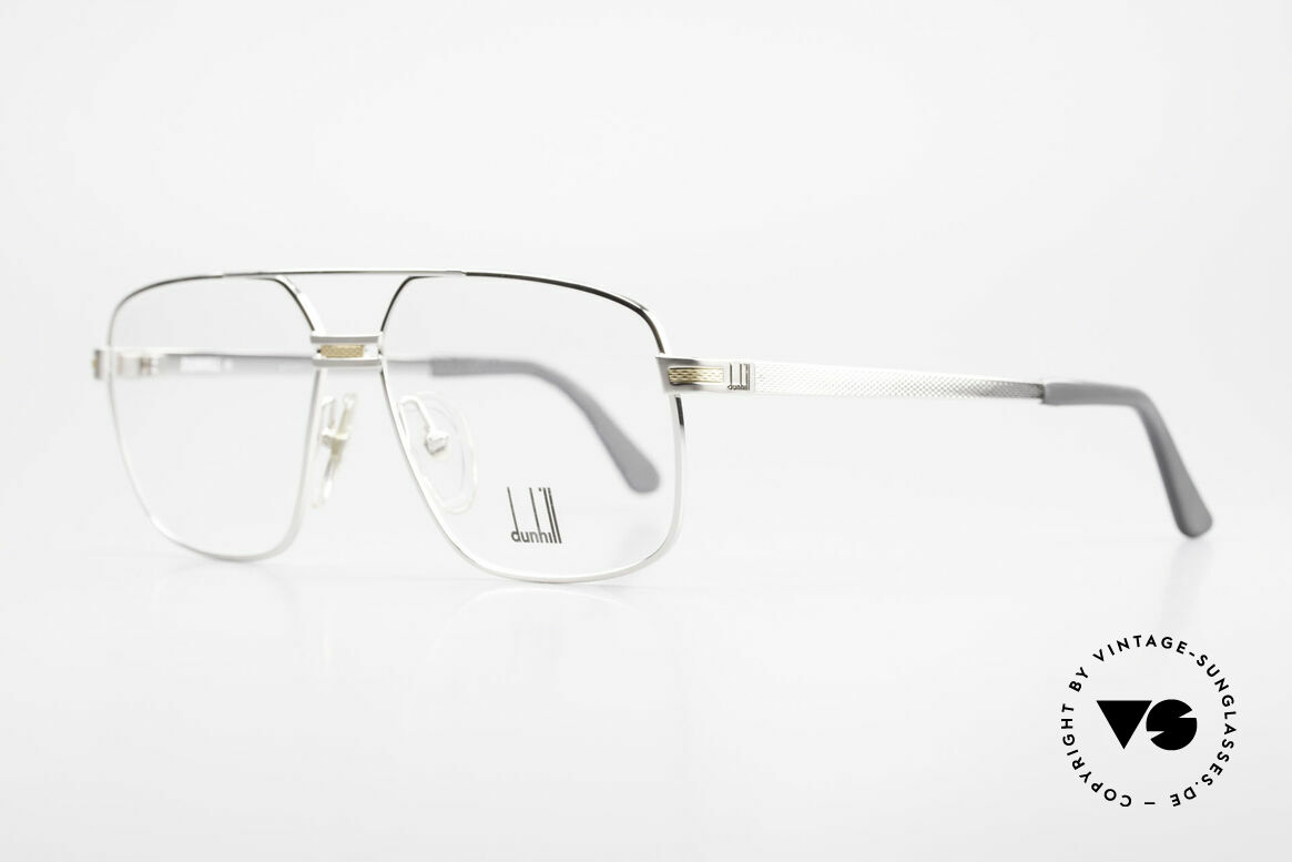 Dunhill 6134 Platinum Plated 90's Frame, soft sheen thanks to hundrets of minute facets, Made for Men