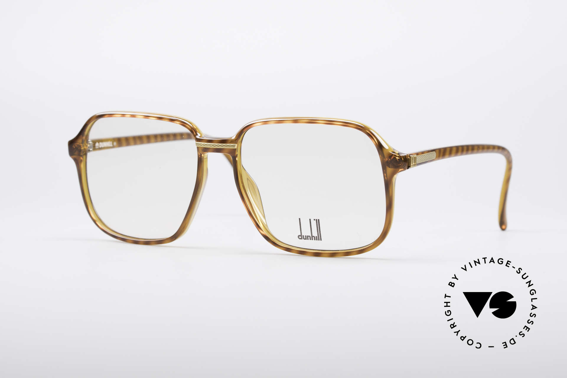 Dunhill 6060 Classic 80's Eyeglasses, striking designer glasses by Alfred Dunhill from 1987, Made for Men