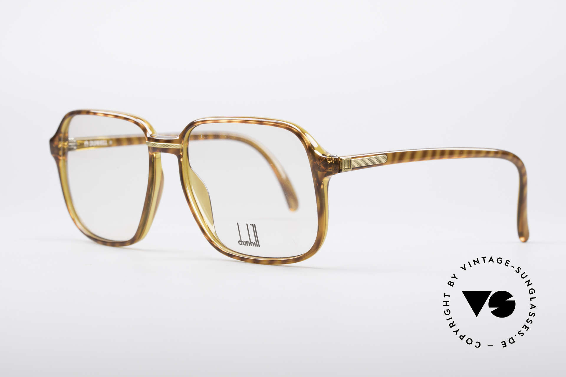 Dunhill 6060 Classic 80's Eyeglasses, 90's gentlemen's style (characteristical A. DUNHILL), Made for Men