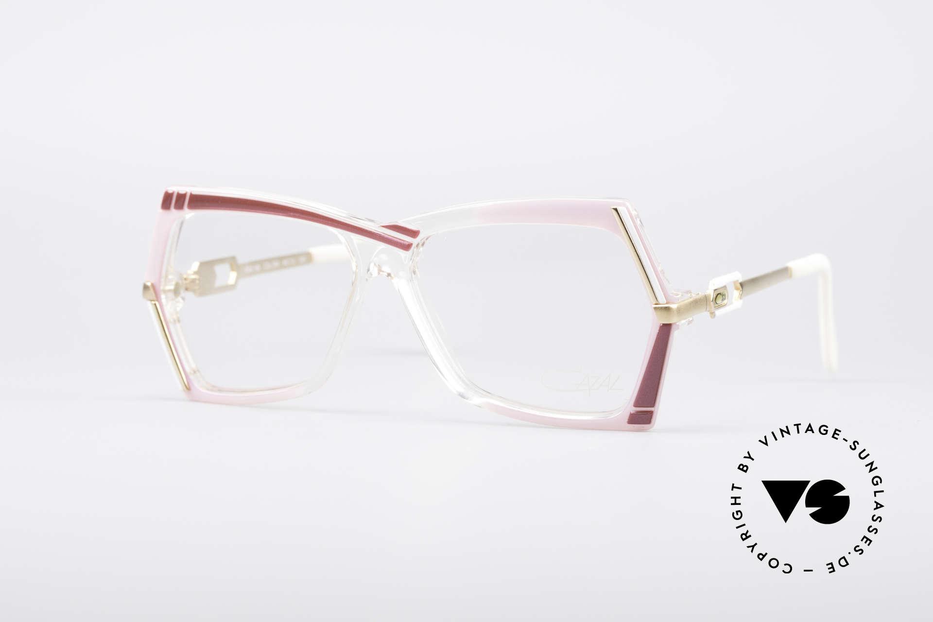 Cazal 183 1980's Hip Hop Eyeglasses, extraordinary CAZAL designer glasses from 1987, Made for Women