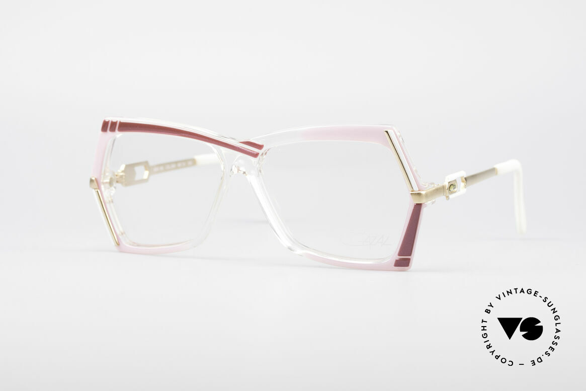 Cazal 183 1980's Hip Hop Eyeglasses, extraordinary CAZAL designer glasses from 1987, Made for Women