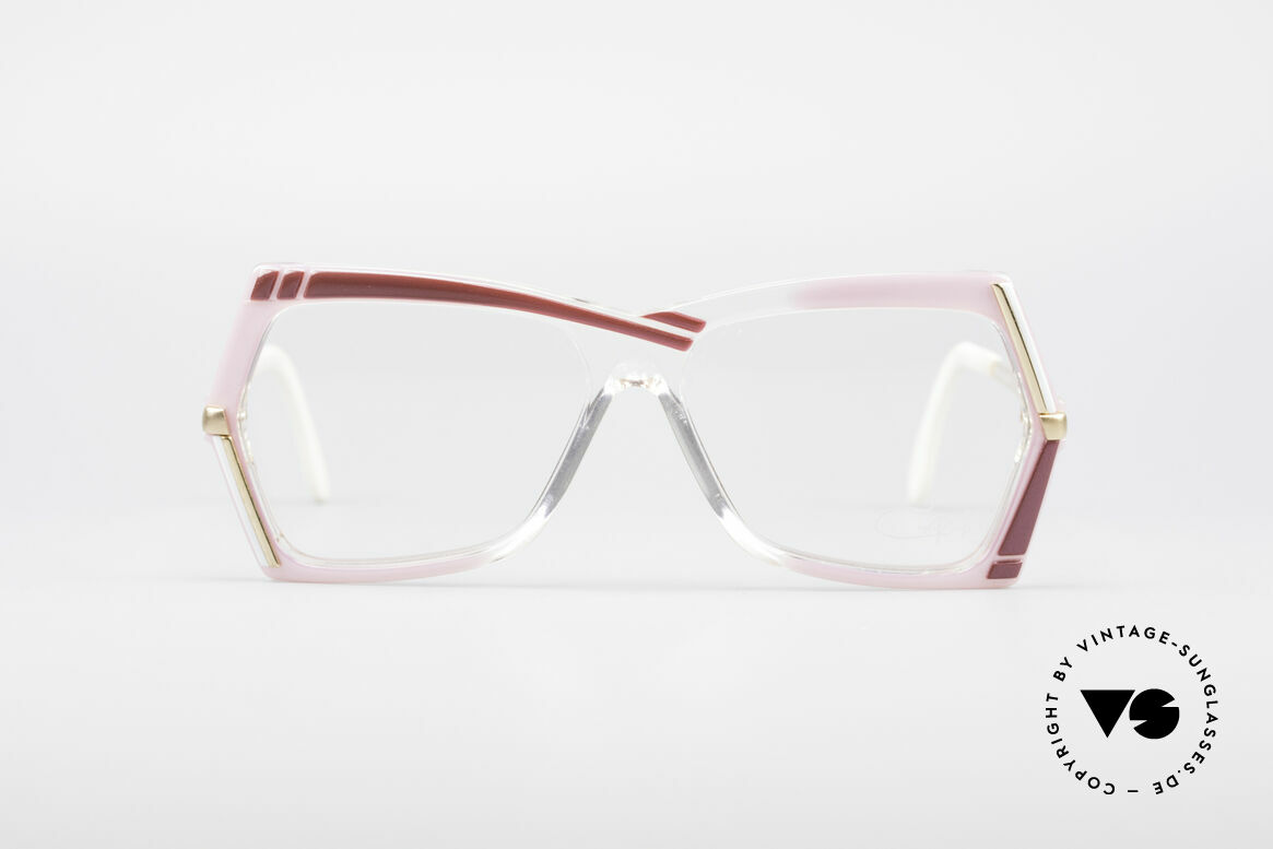 Cazal 183 1980's Hip Hop Eyeglasses, typical 80's colouring and design by CAri ZALloni, Made for Women