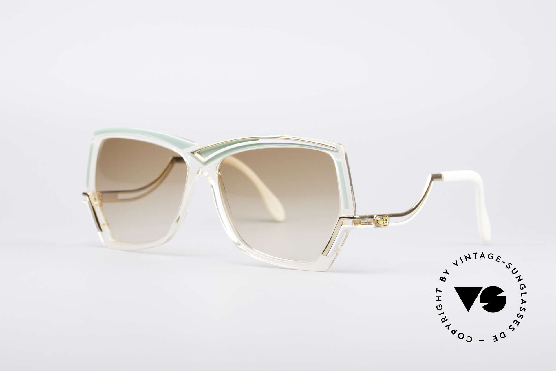 Cazal 178 Extraordinary Sunglasses, ornamented frame & fancy temples - true vintage!, Made for Women