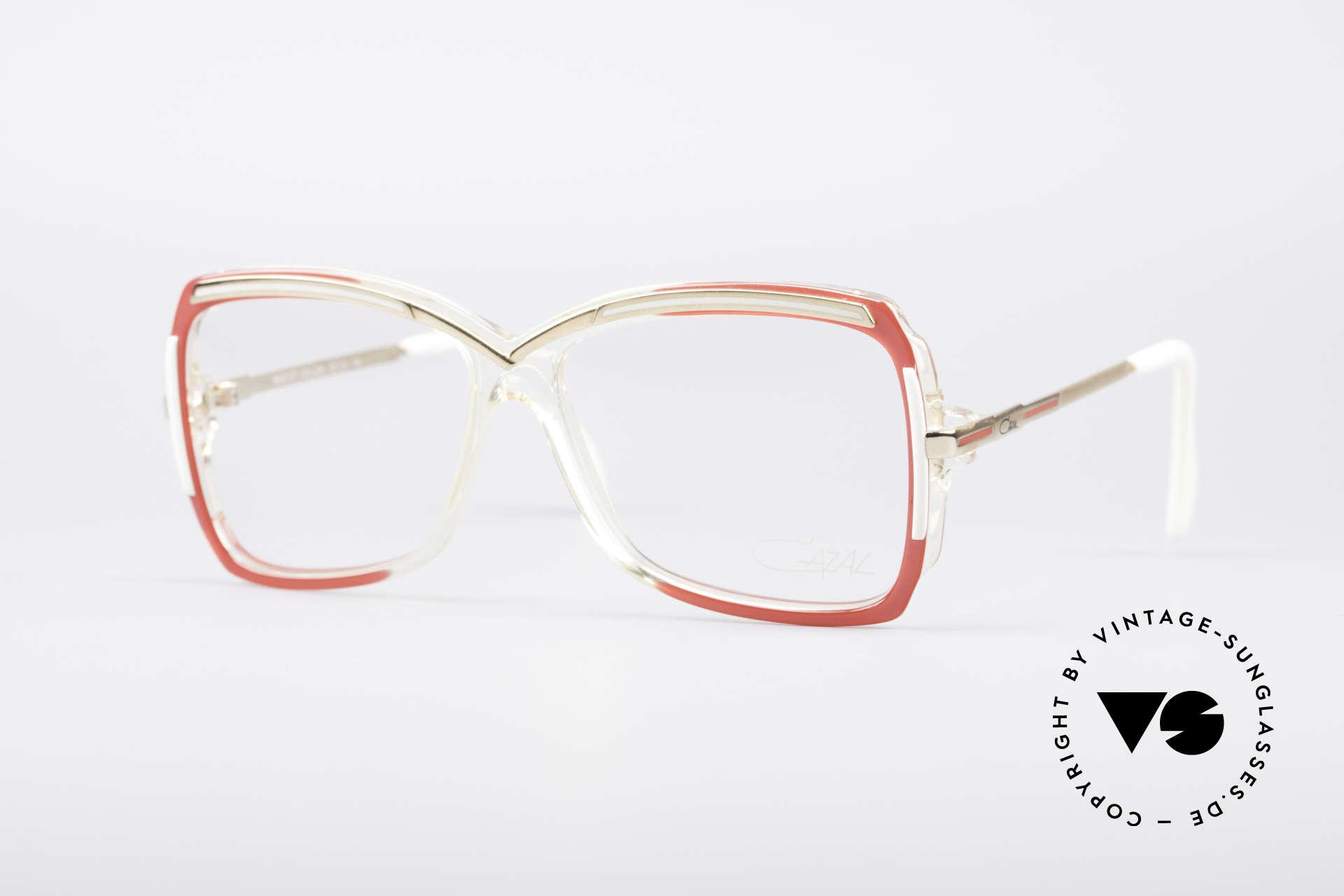 Cazal 177 80's Designer Glasses, fabulous CAZAL eyeglasses for women from 1987, Made for Women