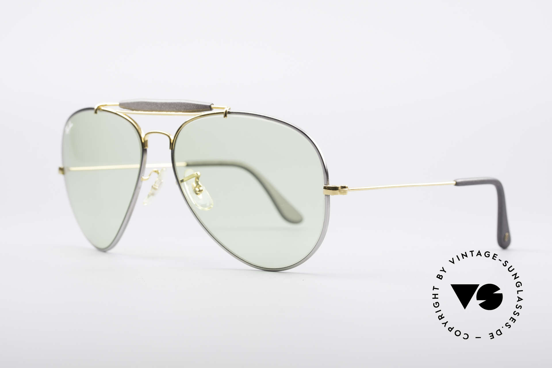 Ray Ban Outdoorsman II Precious Metals Changeable, titanium frame and 24kt gold-plated components, Made for Men