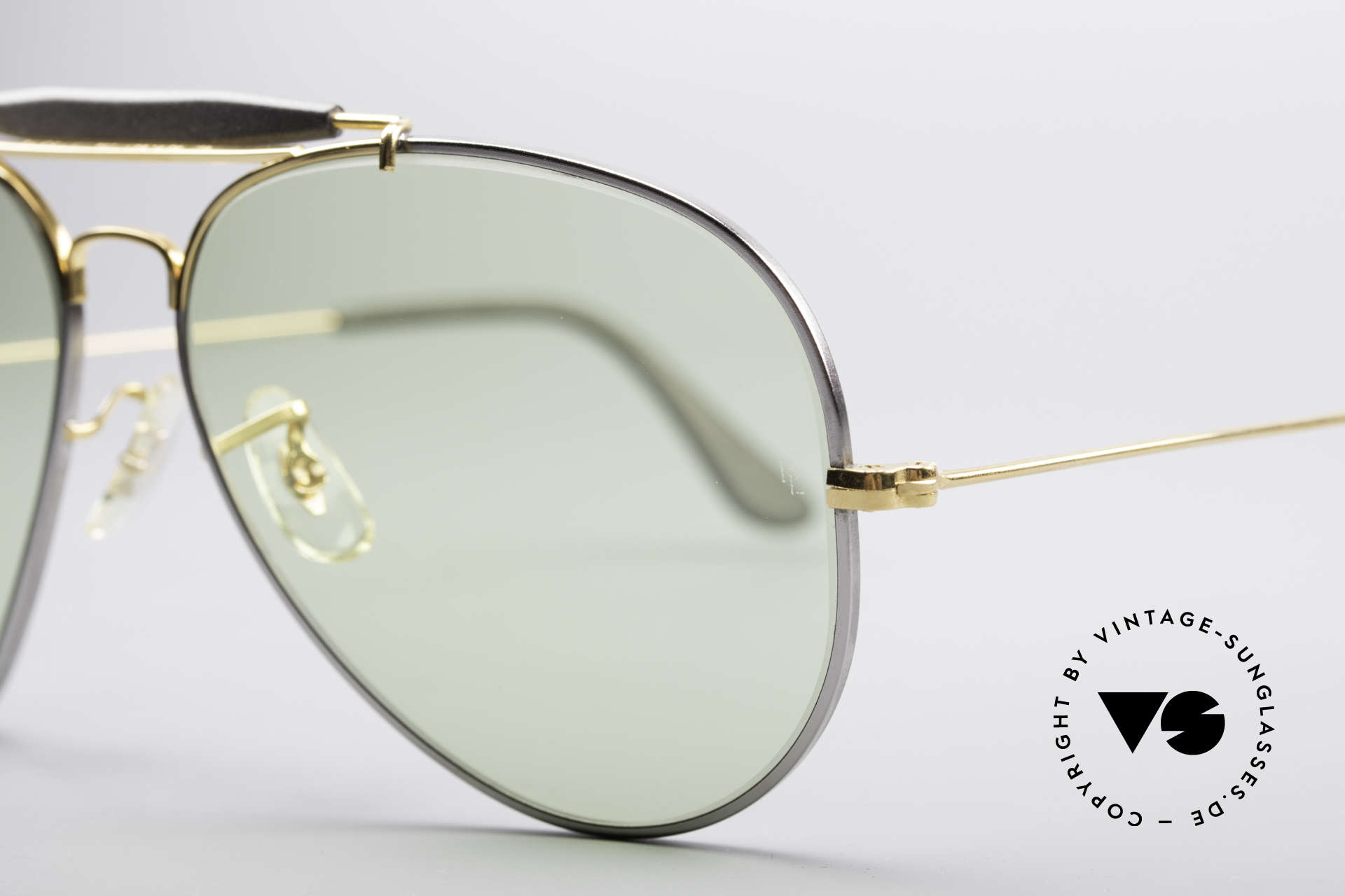 Ray Ban Outdoorsman II Precious Metals Changeable, made in the 1970's & 80's by Bausch&Lomb, USA, Made for Men