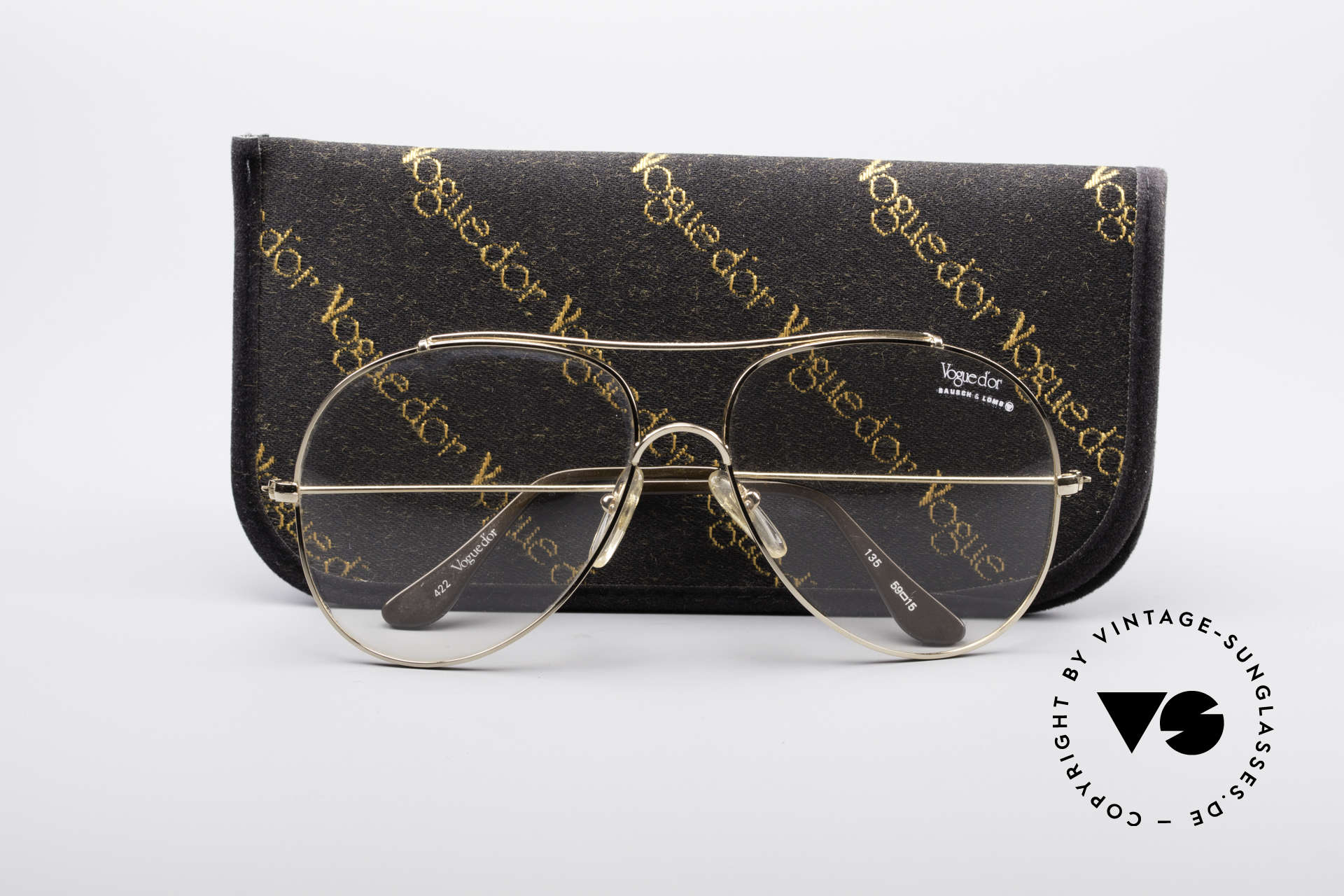 12406acf06b Glasses Bausch   Lomb 422 Gold Filled 80 s Frame