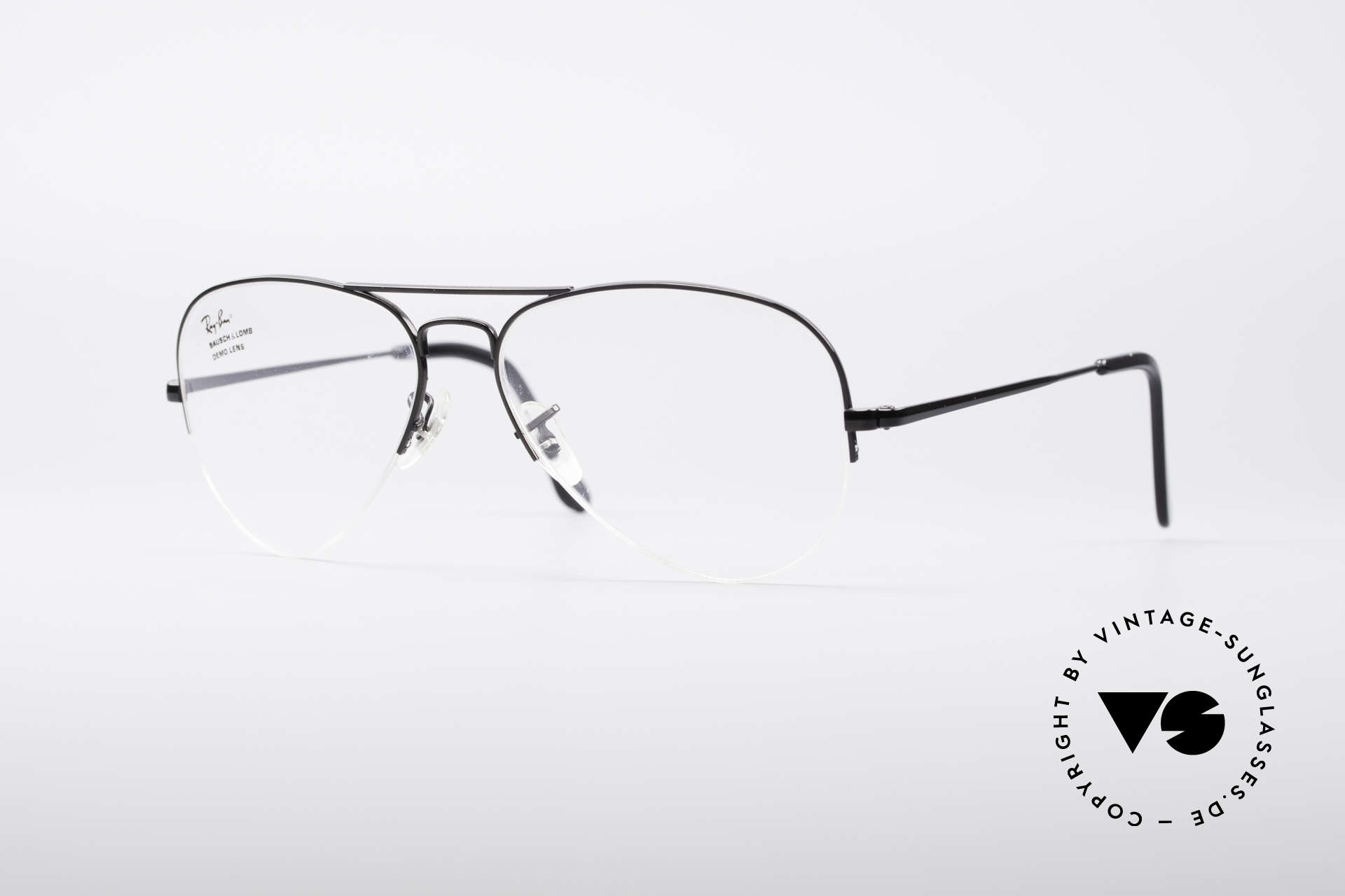 Glasses Ray Ban Aviator Half Rimless 80\'s Frame | Vintage Sunglasses