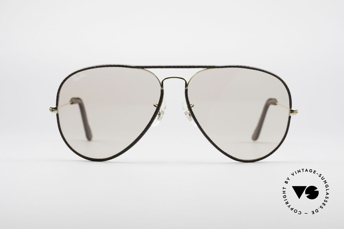 Ray Ban Large Metal II Leathers Changeable USA, Special Leather Edition (very hard to find); made in USA, Made for Men