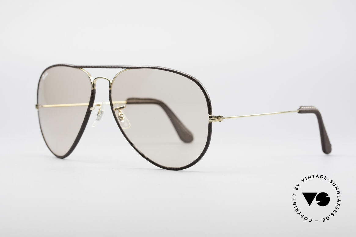Ray Ban Large Metal II Leathers Changeable USA, orig. Bausch&Lomb mineral lenses (100%UV protection), Made for Men