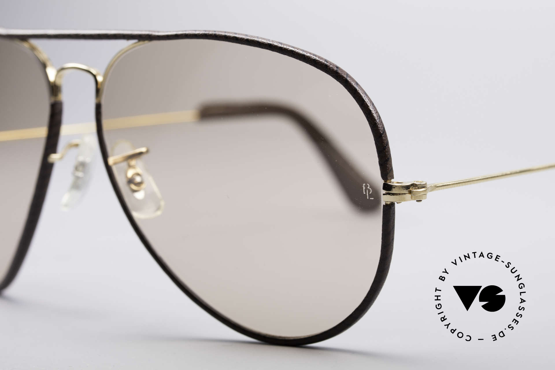 Ray Ban Large Metal II Leathers Changeable USA, high-end B&L changeable lenses (darken automatically), Made for Men