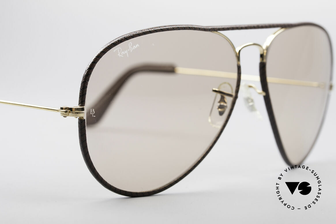 Ray Ban Large Metal II Leathers Changeable USA, unworn vintage shades (true collector's item, worldwide), Made for Men