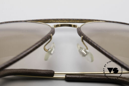 Ray Ban Large Metal II Leathers Changeable USA, NO RETRO sunglasses, but a rare original from the 1980's, Made for Men