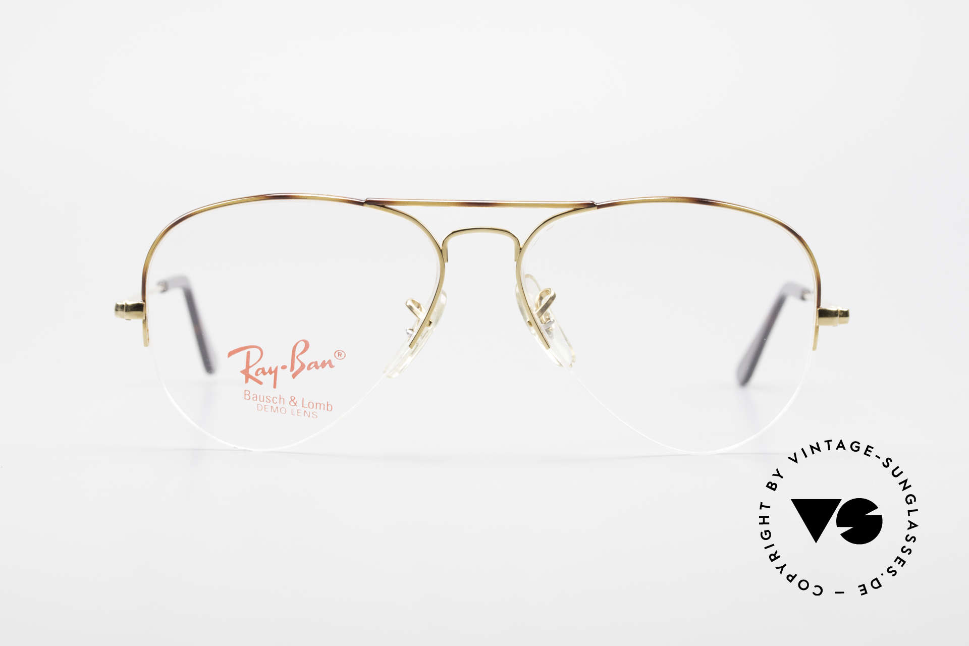 Ray Ban Aviator Half Rimless Frame Tortuga, very rare 'Nylor Edition' (semi rimless frame), Made for Men and Women