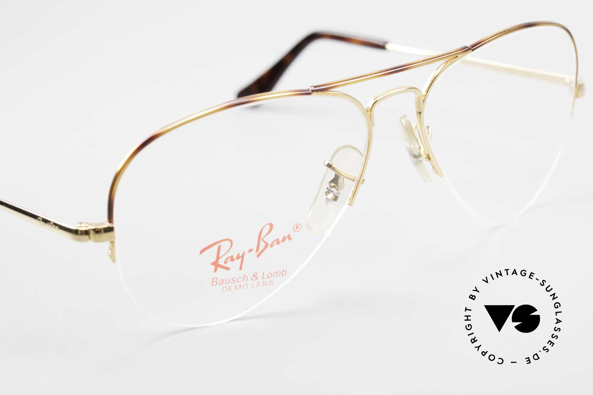 Ray Ban Aviator Half Rimless Frame Tortuga, limited Tortuga version (gold-tortoise finish), Made for Men and Women