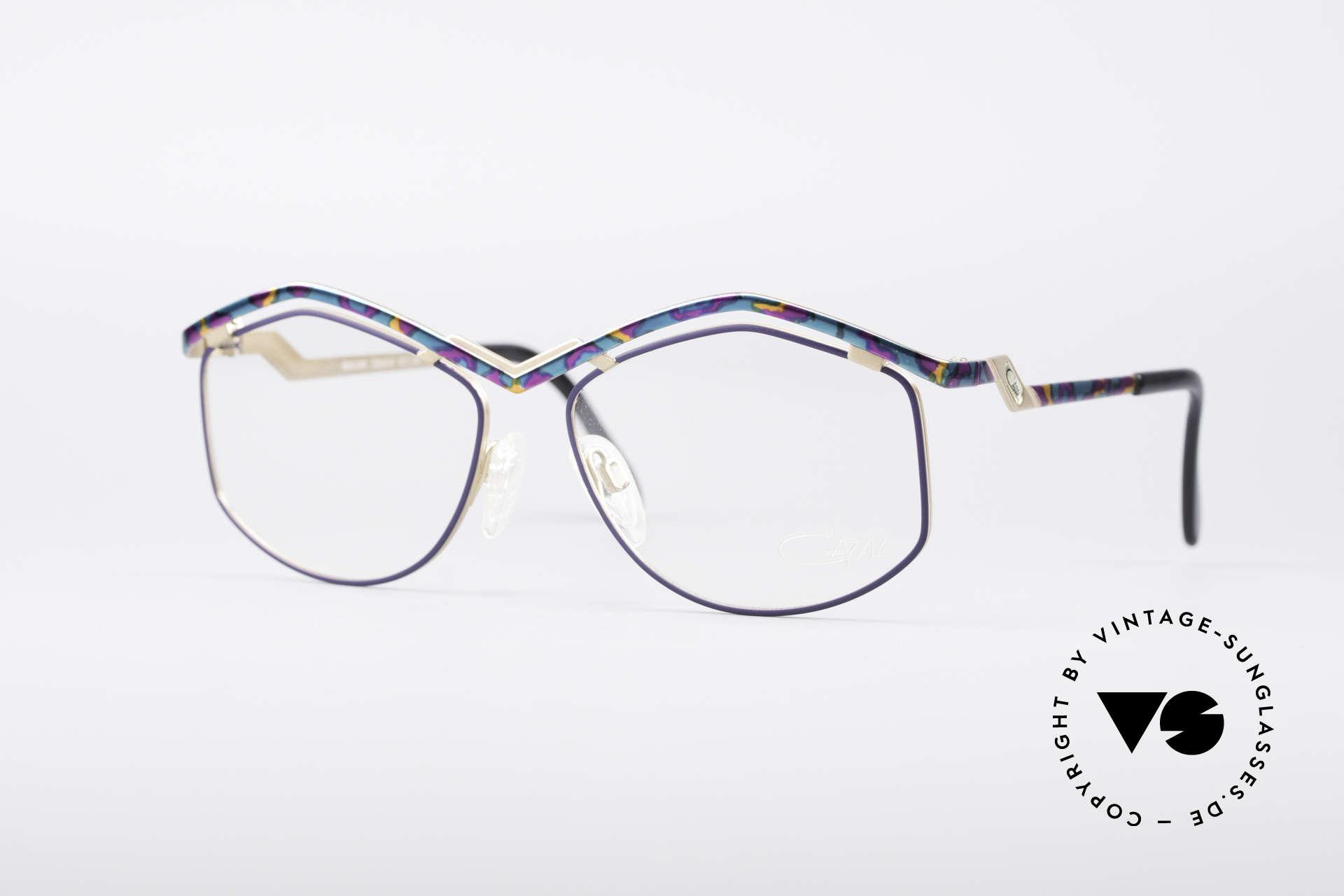 Cazal 249 Pop Art 90's Titanium, elaborate designer eyeglasses by CAZAL of the 90's, Made for Women