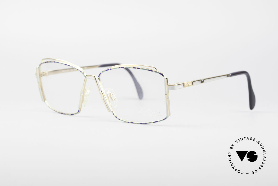 Cazal 264 No Retro True Vintage Frame, vivid shapes and great glossy pattern; fancy & unique, Made for Women