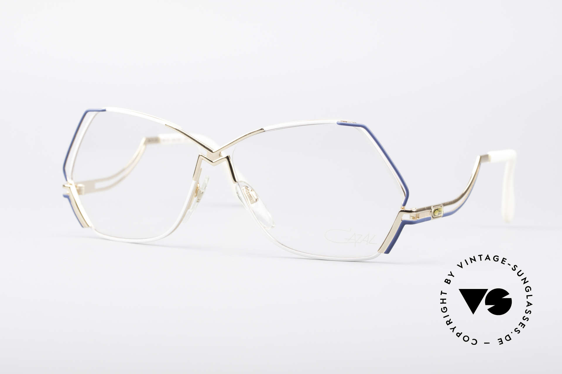 Cazal 226 West Germany Vintage Glasses, extraordinary CAZAL eyeglasses with pentagonal lens, Made for Women