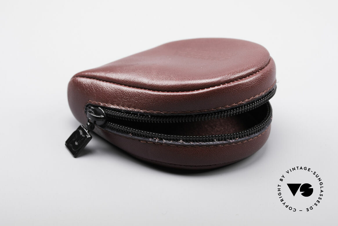 Porsche Case 5622 5626 5628 5629 Shades, high-grade leather material with claret-red coloring, Made for Men and Women