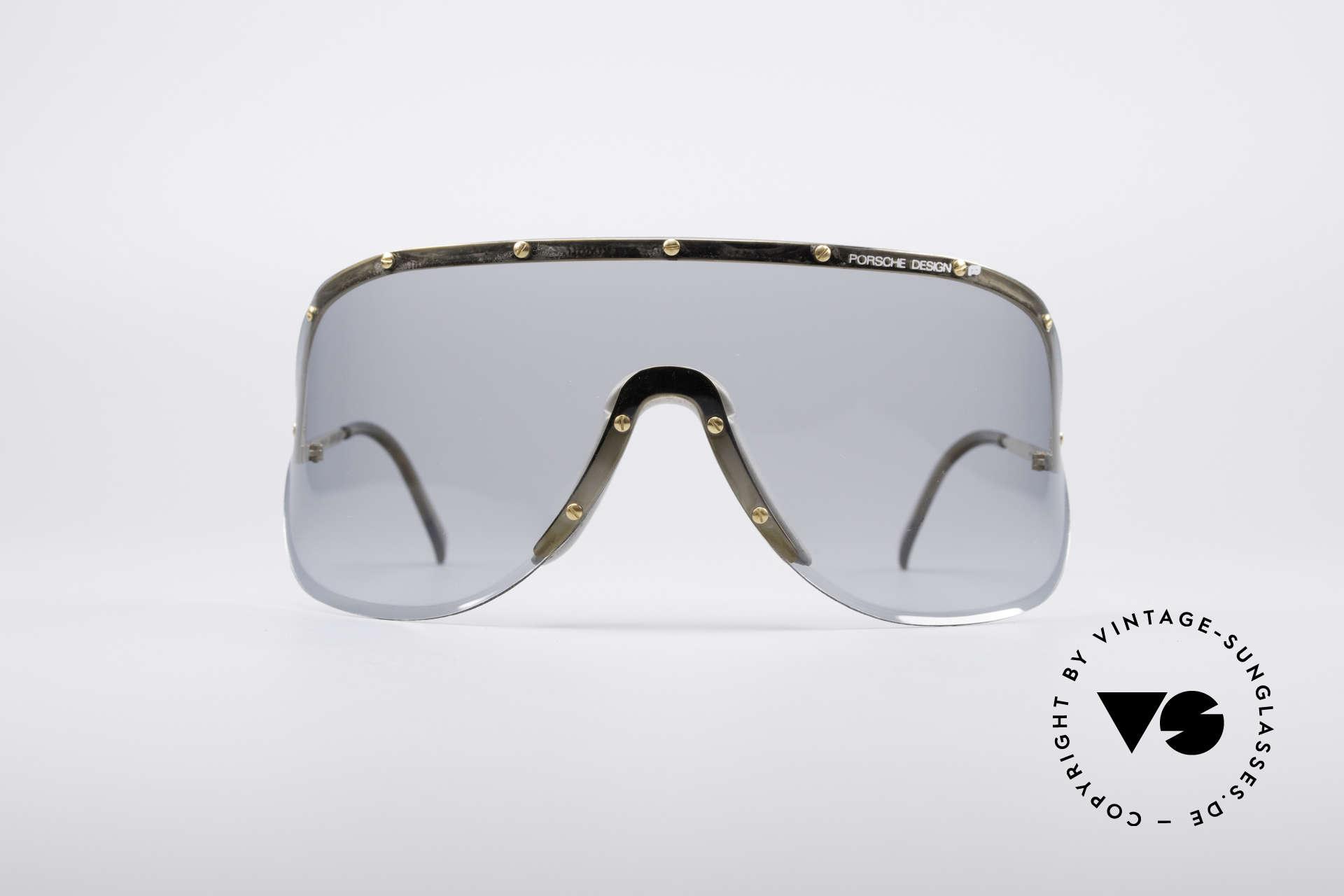 Porsche 5620 Original Yoko Ono Shades Gold, huge shades, made for a flashy appearance (eye-catcher), Made for Men and Women