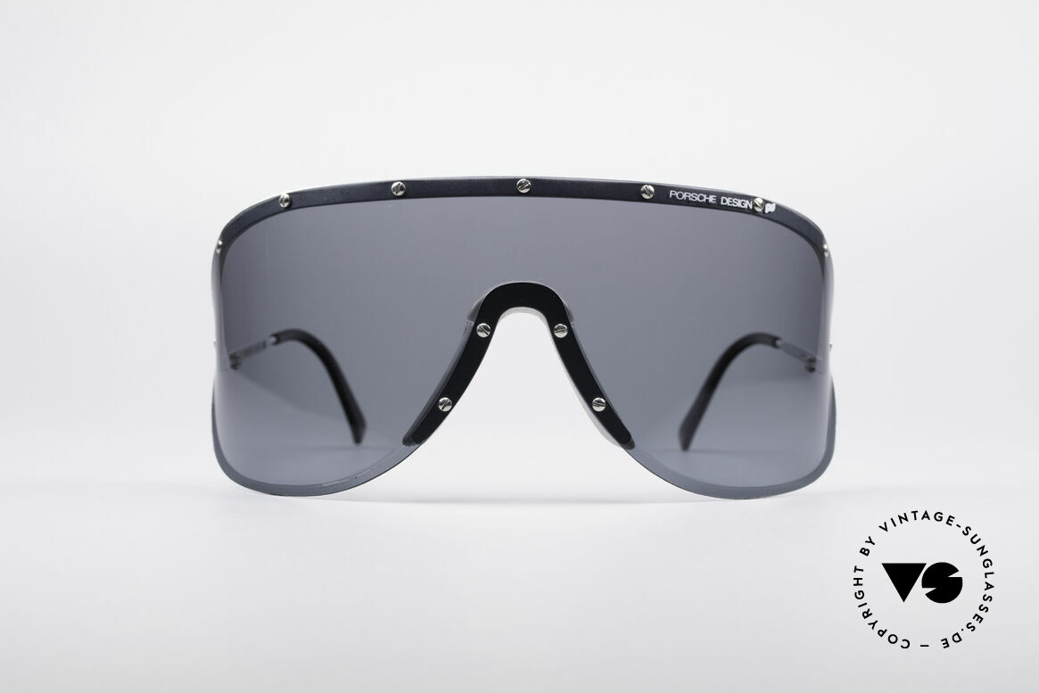 Porsche 5620 Old Yoko Ono Shades Silver, huge shades, made for a flashy appearance (eye-catcher), Made for Men and Women
