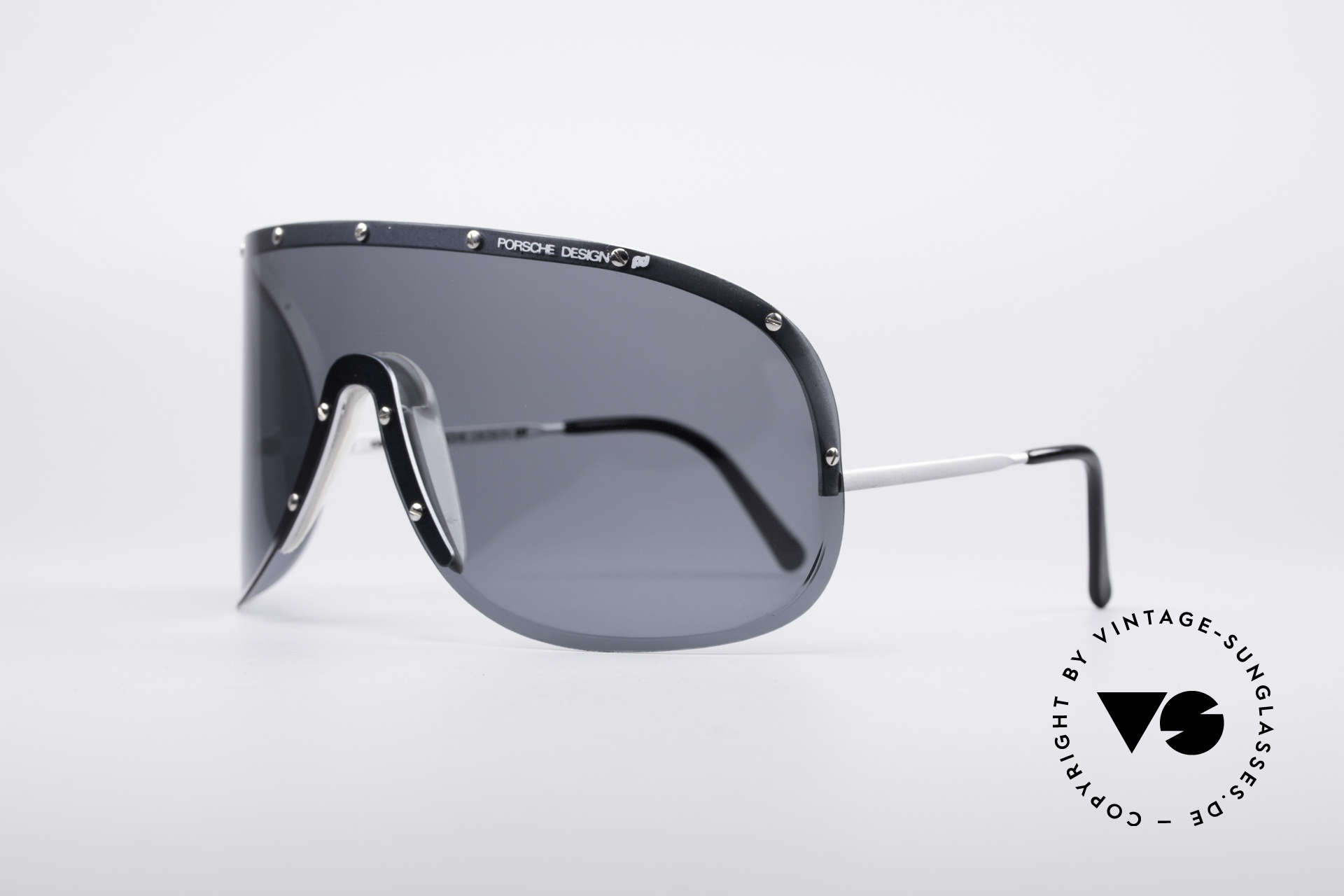 """Porsche 5620 Old Yoko Ono Shades Silver, worn by Yoko Ono (""""Rolling Stone"""" magazine cover, 1981), Made for Men and Women"""