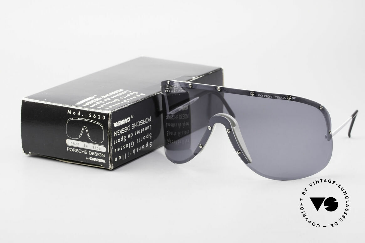 Porsche 5620 Old Yoko Ono Shades Silver, original unworn 1980's rarity (comes with orig. packing), Made for Men and Women